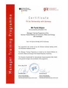 GIZ Certificate